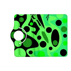Green abstract decor Kindle Fire HD (2013) Flip 360 Case