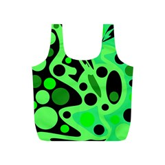 Green abstract decor Full Print Recycle Bags (S)