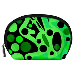Green abstract decor Accessory Pouches (Large)