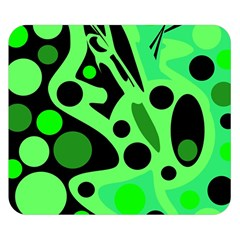 Green abstract decor Double Sided Flano Blanket (Small)