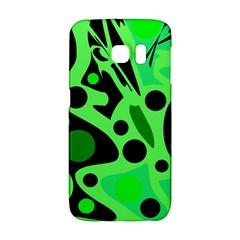 Green abstract decor Galaxy S6 Edge