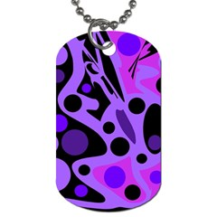 Purple abstract decor Dog Tag (One Side)