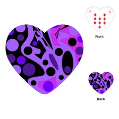 Purple abstract decor Playing Cards (Heart)