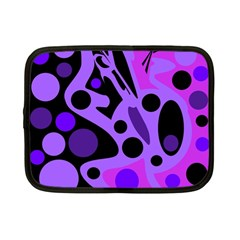Purple abstract decor Netbook Case (Small)