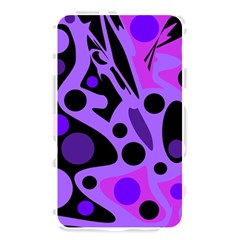 Purple abstract decor Memory Card Reader