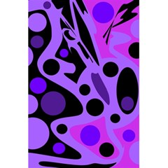 Purple abstract decor 5.5  x 8.5  Notebooks