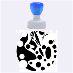Purple abstract decor Rubber Round Stamps (Large)