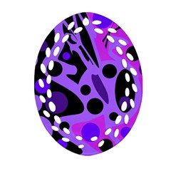 Purple abstract decor Ornament (Oval Filigree)