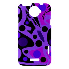 Purple abstract decor HTC One X Hardshell Case