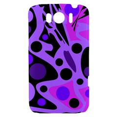 Purple abstract decor HTC Sensation XL Hardshell Case