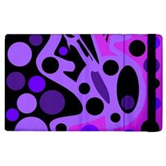 Purple abstract decor Apple iPad 2 Flip Case