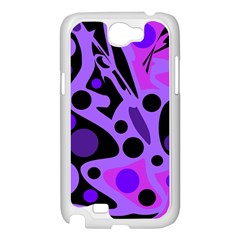 Purple abstract decor Samsung Galaxy Note 2 Case (White)