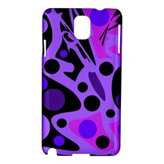 Purple abstract decor Samsung Galaxy Note 3 N9005 Hardshell Case