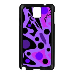 Purple abstract decor Samsung Galaxy Note 3 N9005 Case (Black)