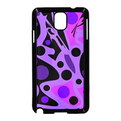 Purple abstract decor Samsung Galaxy Note 3 Neo Hardshell Case (Black)