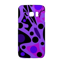 Purple abstract decor Galaxy S6 Edge