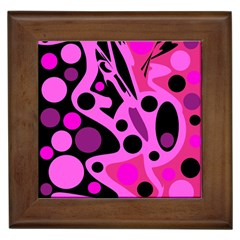 Pink abstract decor Framed Tiles