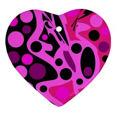 Pink abstract decor Ornament (Heart)