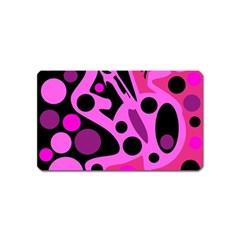 Pink abstract decor Magnet (Name Card)