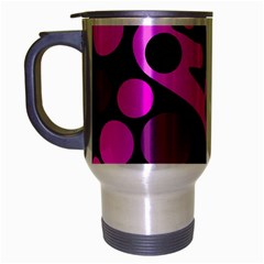 Pink abstract decor Travel Mug (Silver Gray)