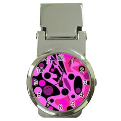 Pink abstract decor Money Clip Watches