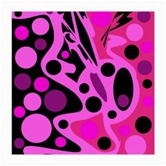 Pink abstract decor Medium Glasses Cloth