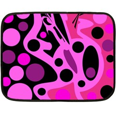 Pink abstract decor Double Sided Fleece Blanket (Mini)