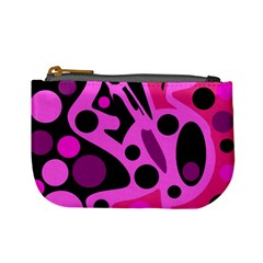 Pink abstract decor Mini Coin Purses