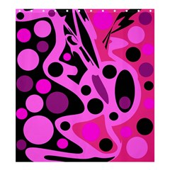 Pink abstract decor Shower Curtain 66  x 72  (Large)
