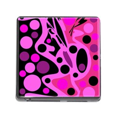Pink abstract decor Memory Card Reader (Square)