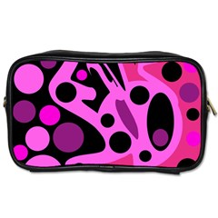 Pink abstract decor Toiletries Bags