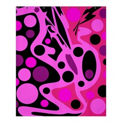 Pink abstract decor Shower Curtain 60  x 72  (Medium)