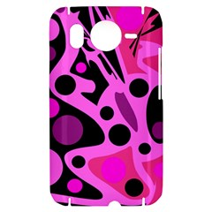 Pink abstract decor HTC Desire HD Hardshell Case