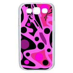 Pink abstract decor Samsung Galaxy S III Case (White)