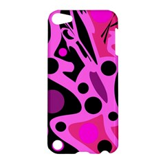 Pink abstract decor Apple iPod Touch 5 Hardshell Case