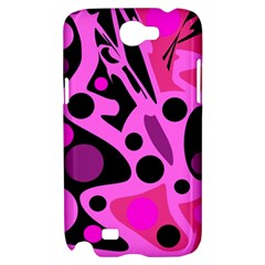 Pink abstract decor Samsung Galaxy Note 2 Hardshell Case