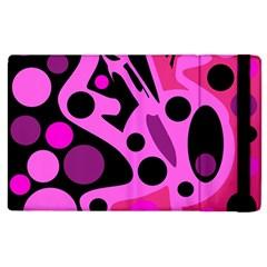 Pink abstract decor Apple iPad 2 Flip Case