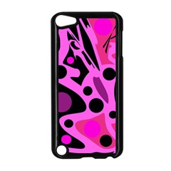 Pink abstract decor Apple iPod Touch 5 Case (Black)