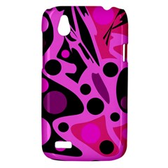 Pink abstract decor HTC Desire V (T328W) Hardshell Case