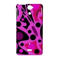 Pink abstract decor Sony Xperia V