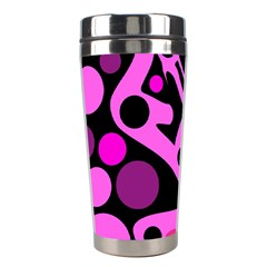 Pink abstract decor Stainless Steel Travel Tumblers