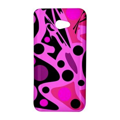 Pink abstract decor HTC Butterfly S/HTC 9060 Hardshell Case