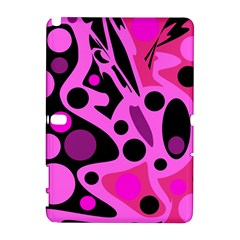Pink abstract decor Samsung Galaxy Note 10.1 (P600) Hardshell Case