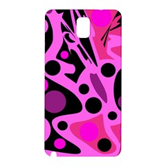Pink abstract decor Samsung Galaxy Note 3 N9005 Hardshell Back Case