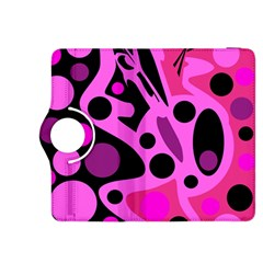 Pink abstract decor Kindle Fire HDX 8.9  Flip 360 Case