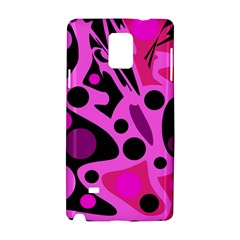 Pink abstract decor Samsung Galaxy Note 4 Hardshell Case