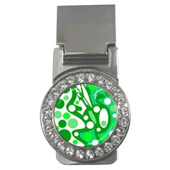 White and green decor Money Clips (CZ)