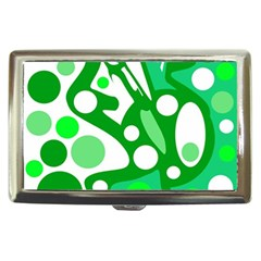 White and green decor Cigarette Money Cases