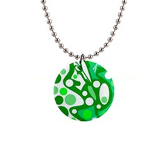 White and green decor Button Necklaces