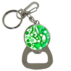 White and green decor Bottle Opener Key Chains